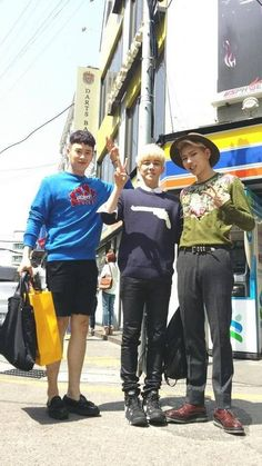 Block B's Zico, P.O, and Kyung Look Fashionable in Recent Snapshot Block B Kpop, Po Block B, Kyung Block B, Kyung Park, Pyo Jihoon, Hahaha Hahaha, Cute Rappers, B Bomb, Korean Music