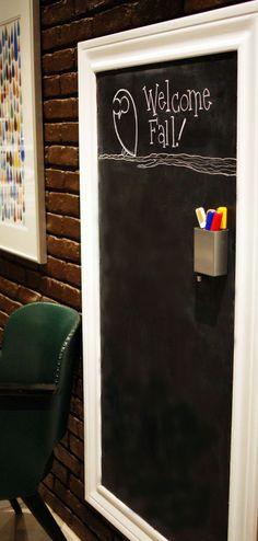 Step-by-step framed magnetic chalkboard diy.