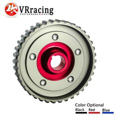 VR RACING- Adjustable Cam Gear Alloy Timing Gear FOR HONDA SOHC D15/D16 D-SERIES ENGINE CAM PULLEY PULLYS GEARS RED 1PCS VR6542R