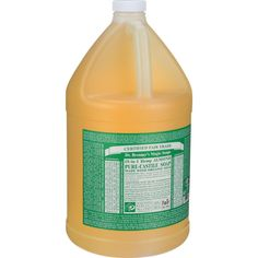 Dr. Bronner's Pure Castile Soap - Fair Trade And Organic - Liquid - 18 In 1 Hemp - Almond - 1 Gal