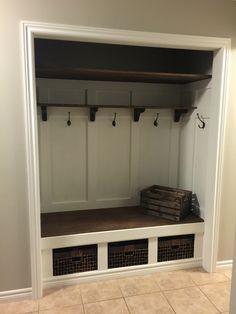 New closet bench closet bench, front hall closet, closet nook, entryway closet, Closet Bench, Front Hall Closet, Closet Nook, Hallway Closet, Entry Hallway, Closet Mudroom, Entry Nook, Entry Stairs, Pantry Closet