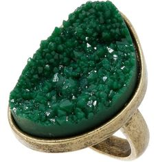 Green Sparkle Rock Ring (€2,56) ❤ liked on Polyvore featuring jewelry, rings, accessories, green, anillos, women, green jewelry, sparkle jewelry, sparkly rings and rock jewelry