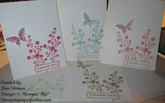 stampin up card images | The stamp sets featured on these cards include: A Fitting Occasion ...