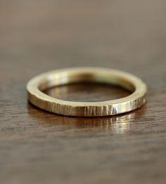 Gold Tree Bark Ring