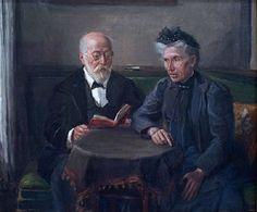 Fritz von Uhde - Senator Gustav Hertz und Frau 1906