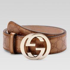 Gucci :: Men Belt :: 114876 AHB1G 8208 belt with interlocking G buckle
