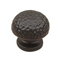 "Richelieu Hardware - Country Style Expression IV - 1 1/4"" Diameter Hammered Knob in Matte Black"