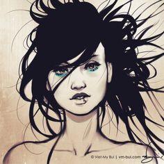 Digital Illustrations by Viet-My Bui http://www.cruzine.com/2012/12/06/digital-illustrations-vietmy-bui/