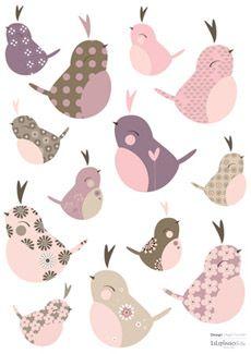 Lot stickers Oiseaux (13 stickers)
