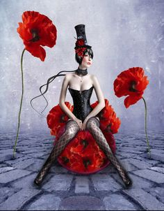 Gentil Coquelicot Mesdames ♫... #Poppies -- By flore-stock.deviantart.com