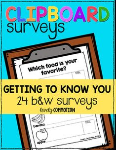 A group of children use clipboards to take surveys with their friends. The educators take photos of the surveys and project them, to give the children opportunities to communicate their thinking and observations about the data collected.