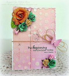 Such a Pretty card by Melissa for the Simon Says Stamp Wednesday challenge (Create Your Own Background)