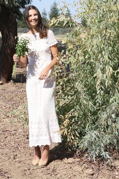 A vintage wedding dress for nontraditional brides.