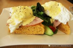 Eggs Benedict  http://takeko.blogspot.com/2012/03/brunch-hangout-arbite-at-66-serangoon.html