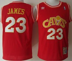 Mitchell and Ness Cavaliers  23 LeBron James Stitched Red CAVS NBA Jersey ae583057c