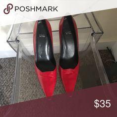 """Stuart Weizmann red heels. Size 9 Red 4""""heels. 9 Stuart Weitzman Shoes Heels"""