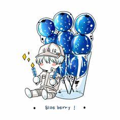 Hataraku Saibou    Cells at work!    Cr: 가시선�장/サボテン🌵 All Anime, Me Me Me Anime, Manga Anime, Anime Art, Gekkan Shoujo, Anime Stickers, Popular Anime, Blood Cells, Cute Anime Character