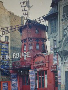 "Photographer: Stephane Passet, July 1914. ""The Moulin Rouge nighclub in Paris, home of the scandalous cancan."""