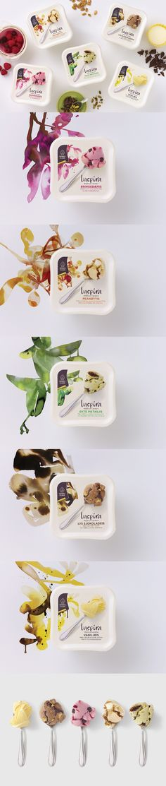 Inspira Ice Cream. The ice-cream connoisseurs' dream. #packaging #design