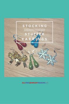 Cute and easy earrings to make for the holidays
