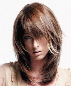 Каскад на средние волосы - 89 фото