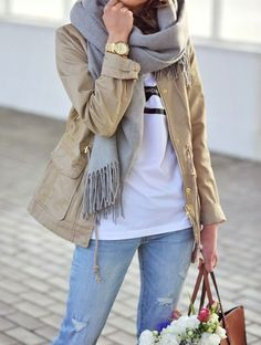 softer, relaxed style and colors... very faded look