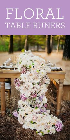 Project Wedding Picks: Our Favorite Floral Table Runners!