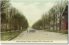 South Michigan Street looking north, Plymouth, Indiana