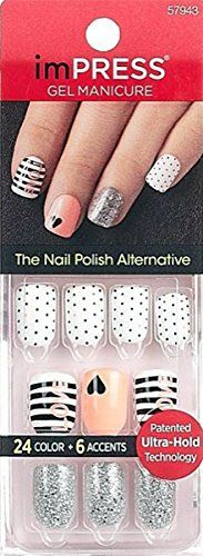 Gel Nail Kit, Gel Manicure, Nail Polish Designs, Nail Designs, Cute Nails, Pretty Nails, Impress Nails, Nail Stencils, Popular Nail Art