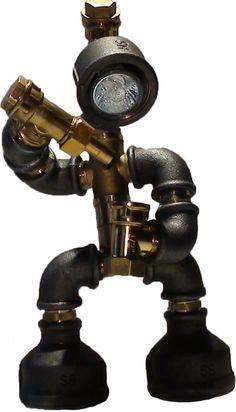 Steampunk House, Steampunk Design, Steampunk Lamp, Diy Furniture Fix, Pipe Furniture, Steam Punk, Liquor Dispenser, Pipe Lighting, Diy Pipe