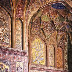 The Wazir Khan Mosque in Lahore, Pakistan