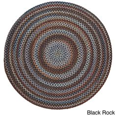 Rhody Rug Augusta Wool Braided Area Rug (4' Round)  | Overstock.com Shopping - The Best Deals on Round/Oval/Square