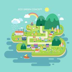 创意绿色环保城市插画矢量素材.jpg