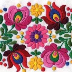 Grand Sewing Embroidery Designs At Home Ideas. Beauteous Finished Sewing Embroidery Designs At Home Ideas. Mexican Embroidery, Hungarian Embroidery, Japanese Embroidery, Learn Embroidery, Crewel Embroidery, Vintage Embroidery, Ribbon Embroidery, Machine Embroidery, Modern Embroidery