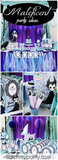 How cool is this Maleficent birthday party?! See more party ideas at CatchMyParty.com!