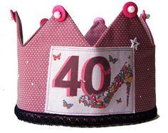 Corona de Aniversario para el aniversario de Lola, 40 años no se hacen cada día ;-)