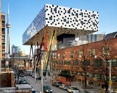 Ontario College of Art and Design by Will Alsop | Idea #16: Platform - Raising spirits by literally raising the elevation of the building... but how much is too much and when does it become too willful?