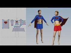 01 - Marvelous Designer - (CLO 3D 2011) - SuperGirl - Exportar para o CLO Show Player - Parte 1 - YouTube