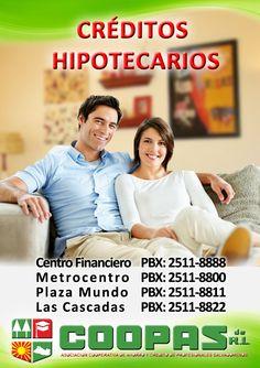 Créditos Hipotecarios en @COOPASDERL  #TuMejorOpciónFinanciera