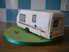 Caravan Cake by The Cake Witch Caravan Cake, Fondant People, Witch Photos, 50th Cake, Birthday Cakes For Women, Unique Cakes, Cupcake Cakes, Cupcakes, Cake Decorating