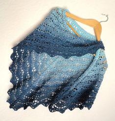 Châle d été au crochet, motif dentelle   chèche coton acrylique, dégradé de 70f385a3497