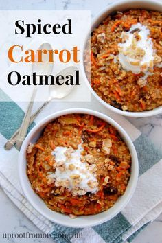 Spiced Carrot Oatmeal with Apples and Raisins | Uproot from Oregon