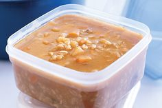 Hearty and healthy, this vegetable-laden winter soup can be frozen into portions for last minute dinner preparation.
