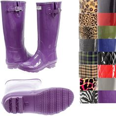 Solid Color Rain Boots - Boot Hto