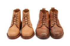 Before v.s. after - if you have an affinity for all things that look and feel better with time and wear, then you won't want to miss out on Rancourt & Co. Shoecrafters' new Veg Tanned Essex Collection. Read more at: http://rwrdn.im/rancourt-veg-tanned-essex-collection