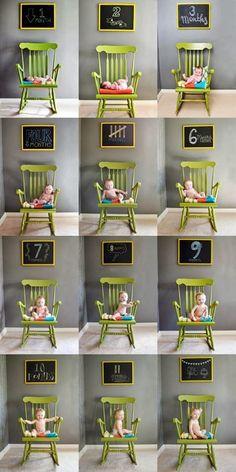 7 ideais de fotos para registrar as fases do bebê ~ Macetes de Mãe
