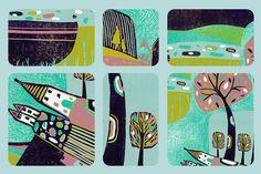 Detail from linocut print landscape edition Linoprint, Bedroom Art, Linocut Prints, Landscape Art, Printmaking, Wall Art Prints, Original Artwork, Fine Art, Nature Inspired