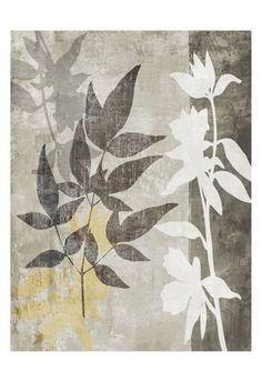 Art Print: Misty 2 by Kristin Emery : Gelli Arts, Gelli Printing, Still Life Art, Stencil Art, Leaf Art, Botanical Art, Diy Painting, Floral Watercolor, Find Art