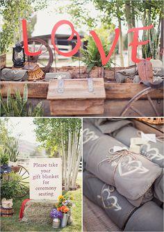custom blankets as wedding favors