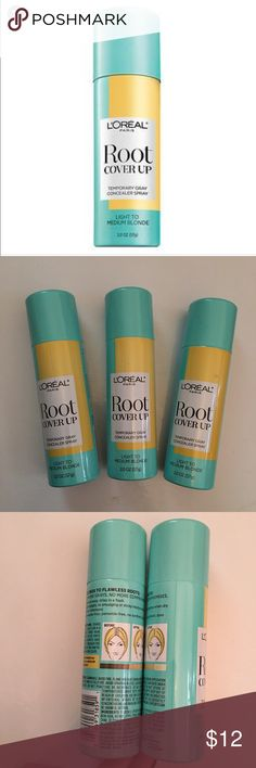 L'Oreal blonde root cover up hair spray Unopened / unused 3 cans of L'Oreal root cover up temporary spray root concealer in Light to Medium Blonde L'Oreal Makeup Brushes & Tools